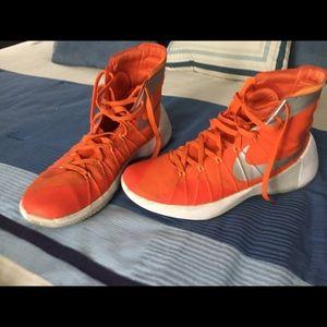 Orange Nike Hyperdunk Sneakers